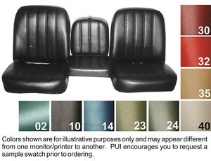 1967 68 Chevy Truck Seat Covers Buckets Or Bench Pui