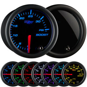 Glowshift 52mm Smoked Turbo Boost 35 Psi Gauge Kit W 7 Led Colors