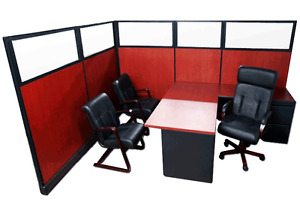 Custom Refurbished Herman Miller Executive Laminate Office Cubicles