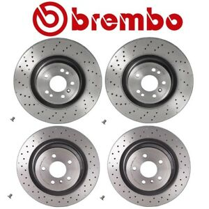 For Mercedes W166 Ml250 Ml350 Front Rear Disc Brake Rotors Drilled Kit Brembo
