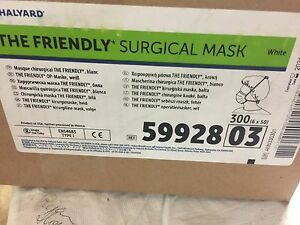 59928 Halyard Health Llc Surgical Mask The Friendly Pleat With Tie White 300