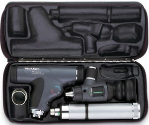 Welch Allyn 3 5v Diagnostic Set 11820 Panoptic 23820 Otoscope Handle Nasal Ill