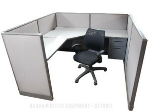 6x6 Herman Miller Low Wall Work Station Office Cubicles With New Paint Fabric