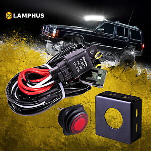 40 Amp Off Road Atv Jeep Led Light Bar Wiring Harness Relay On Off Switch