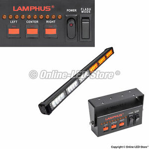 Lamphus 24w Led Emergency Vehicle Traffic Advisor Warning Light Bar amber White