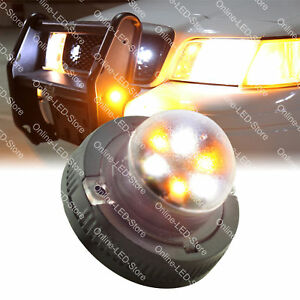 Snow Plow Service Tow Truck 6w Led Hideaway Strobe Warning Light amber White