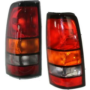 Rear Brake Lights Taillights Lamps Pair Set Of 2 For 04 07 Sierra Pickup Truck