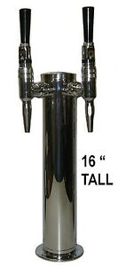 Double Tap Stout Draft Beer Tower Made In The Usa D4743dt 16 stout