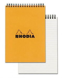Rhodia Wirebound Notebook Orange Lined 80 Sheets 6 X 8 25 New R16501