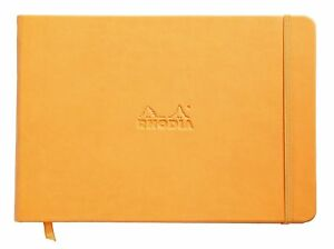 Rhodia Webnotebook Landscape Orange Lined 5 5 X 8 25 Inches New