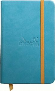 Rhodia Rhodiarama Webbies Notebook Turquoise Lined 3 5 X 5 5 R118747