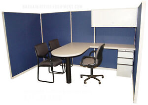 Instant Office Customer Cubicle 60 x 120 67 h Pod Of Cubicles New Fabric