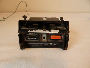 Vintage Car Auto 8 Track Player Floor Mount Panasonic Model Cx 375eu Untested