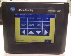 Allen Bradley 2711 t6c16l1 Panelview 600 Color Touch Display Serb Rev F Frn 4 46