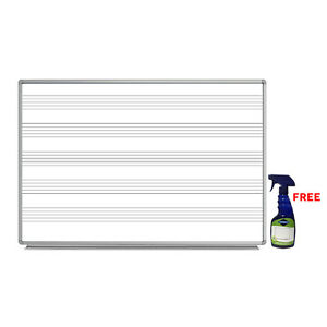 Offex 72 X 48 Wall mount Music Whiteboard With free Whiteboard Cleaner