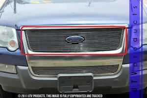 Gtg 2006 2010 Ford Explorer 1pc Polished Upper Overlay Billet Grille Grill