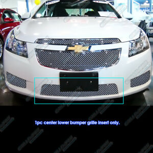 Fits 2011 2014 Chevy Cruze Bumper Stainless Steel X Mesh Blitz Grille Grill