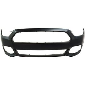 Front Bumper Cover Primed For 2015 2017 Ford Mustang Except Shelby Model