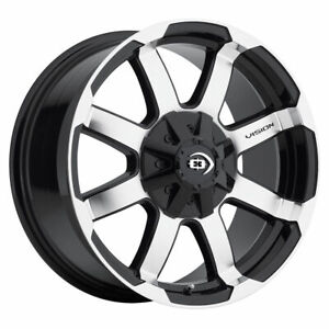 16 Vision 413 Valor Black Machined Wheel 16x8 5x5 5 0mm Dodge Ram 1500 5 Lug