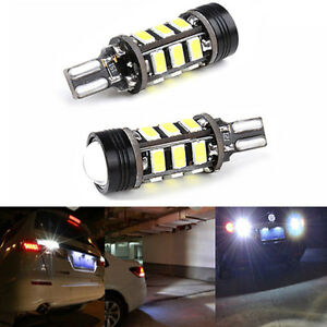 2 T15 W16w 5630 Cob15 Led Xenon White No Error Canbus Backup Reverse Light Bulb