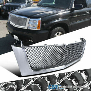 Grille For 02 06 Cadillac Escalade Front Chrome Mesh Hood Grill Replacement