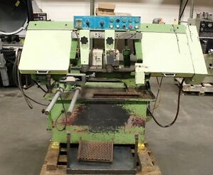 lf bs12aa Lian Feng 12 X 13 Automatic Horizontal Band Saw new 1988