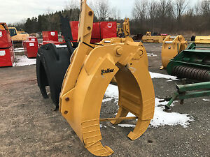 New Bodine Hddm225 Excavator Grapple Attachment 3 Over 2 80 Mm Pins