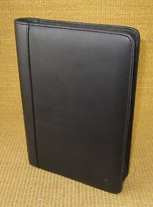Classic Size Black Leather Franklin Covey Notepad smartphone Holder Folio