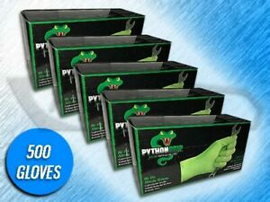 500 Panther Grip 6 Mil Heavy Duty Green Textured Nitrile Gloves choose Size