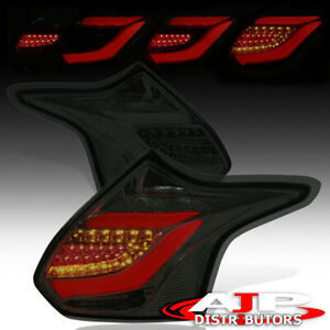12 14 Ford Focus L e d Tube Style Brake Stop Tail Lights Signal Assembly Smoked