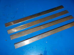 Planer Knives Set Of Four Great Shape Fresh Sharpened Razor Sharp 14 1 2