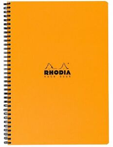 Rhodia Wirebound Notebook Orange Lined With Margin 9 X 11 75 New R193108