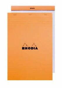Rhodia Le Carre French Paper Orange Lined W Margin 6 X 8 25 Notebook 16600