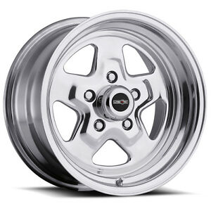 15 Vision 521 Polished Wheel 15x7 5x4 5 0mm Ford Mustang Dodge Charger 5 Lug