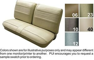 1969 Oldsmobile Cutlass F85 Front Split Bench Seat Cover Pui