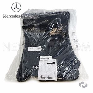 Mercedes R230 Sl Class 03 12 Charcoal Carpeted Floor Mat Set Mats With Clips Oes