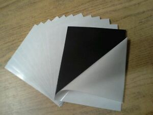 25 Self Adhesive Flexible Magnetic Sheets 8 X 10 Inches