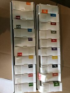 Assorted Lot Of 20 Medical File Labels 1 5 1 Size 20 Title Boxes