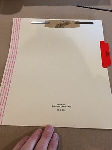 Manila Medical Double Duty File Backs Tab Title Lab x rays Red Lot 300