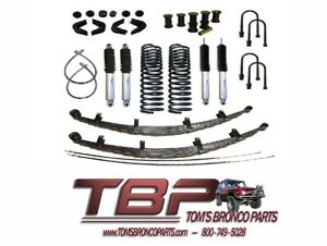 1966 1977 Early Ford Bronco 2 5 Suspension Kit Complete Stage 4