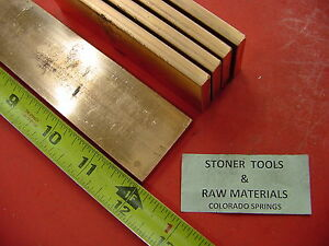 5 Pieces 1 4 x 1 1 2 C110 Copper Bar 12 Long Solid Flat 25 Bus Bar Stock H02