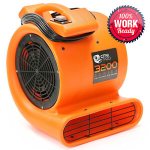 Air Mover 2 Speed 1 2 Hp Blower Fan Industrial Orange