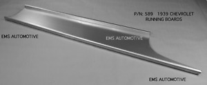 Chevrolet Chevy Car All Sedan Delivery Steel Running Board Set 1939 589 Ems