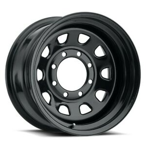 15 Vision 84 D Window Black Wheel 15x8 5x5 5 19mm Dodge Ram Ford 5 Lug Rim