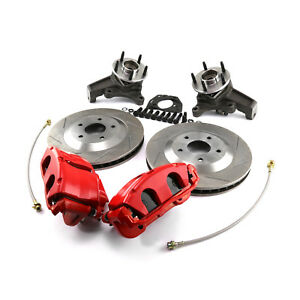 Gm C5 Corvette 13 Slotted Front Disc Brake Conversion Kit