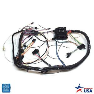 1971 Chevelle Monte Carlo Dash Harness Complete With Warning Lights