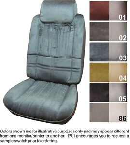 1980 88 Cutlass Salon Brougham Supreme Front Rear Seat Covers W Cloth Pui