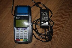 Verifone Omni 3750 Credit Card Reader Business Terminal With Ac Adapter Tested