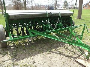 John Deer Av Drill With Grass Seeder Att Single Disc Great For Food Plots