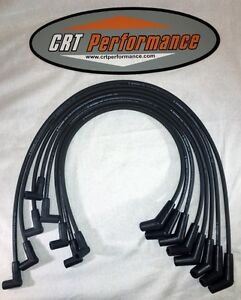 Bbc Chevy 396 427 454 Black 8mm Hei Spark Plug Wires 45 Degree Ends Made In Usa
